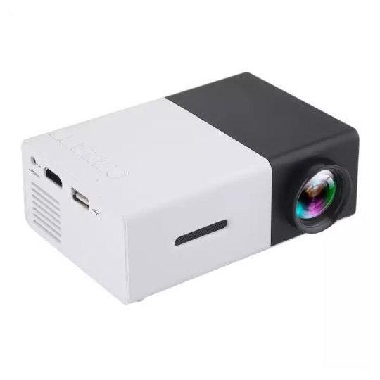 ODSCN YG-300 600 Lumens Mini Portable Projector in black