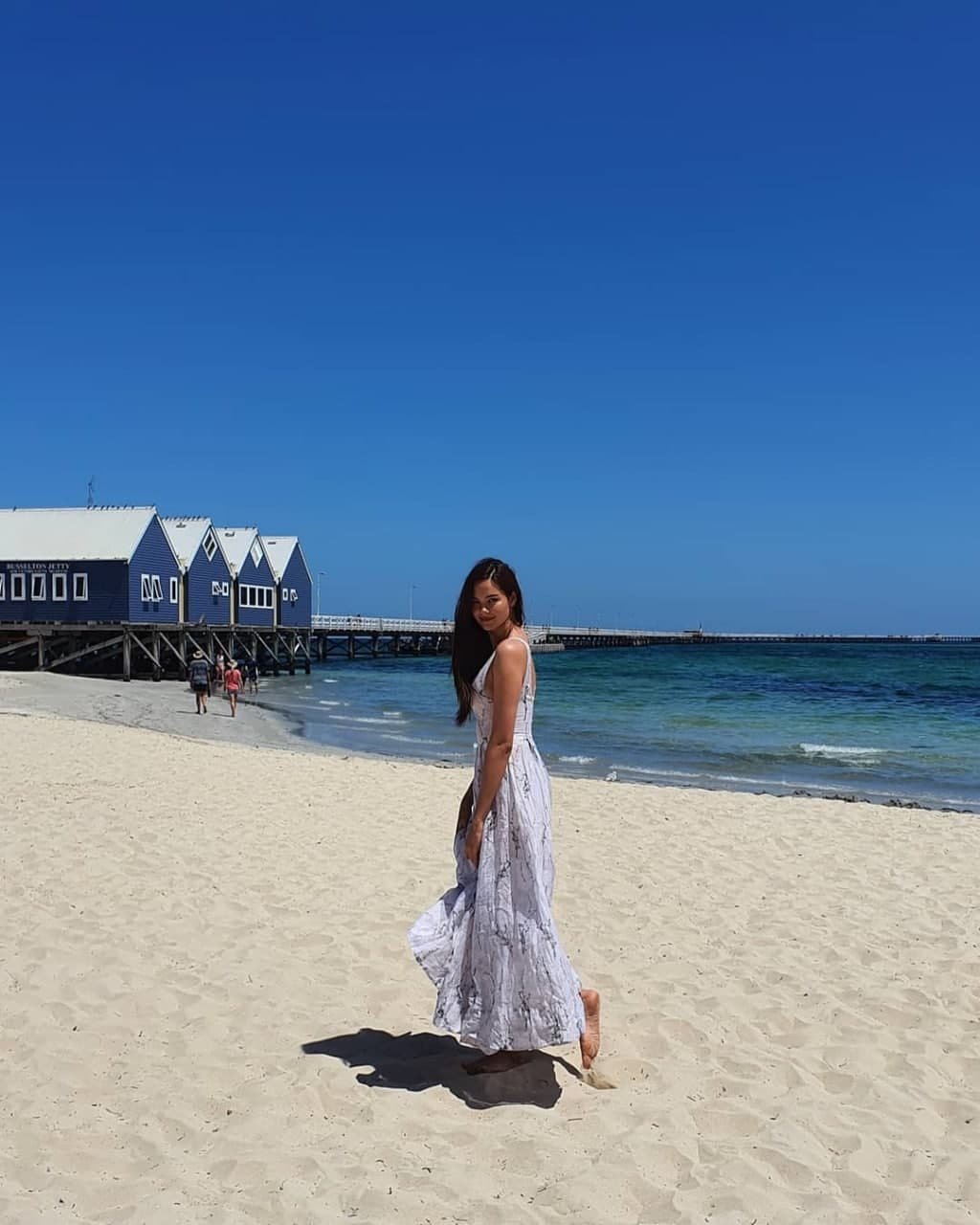 Catriona Gray taking a stroll on the beach