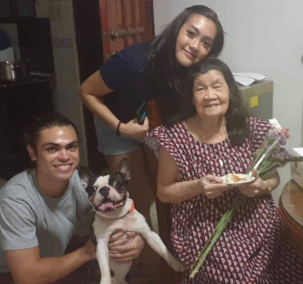 Family photo of a Pinay and her lola - Marianne