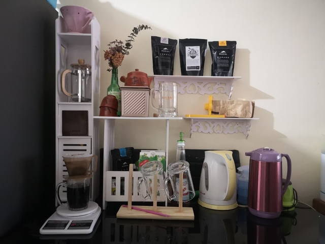 I recently upgraded from the instant kind and splurged on coffee-making things.
