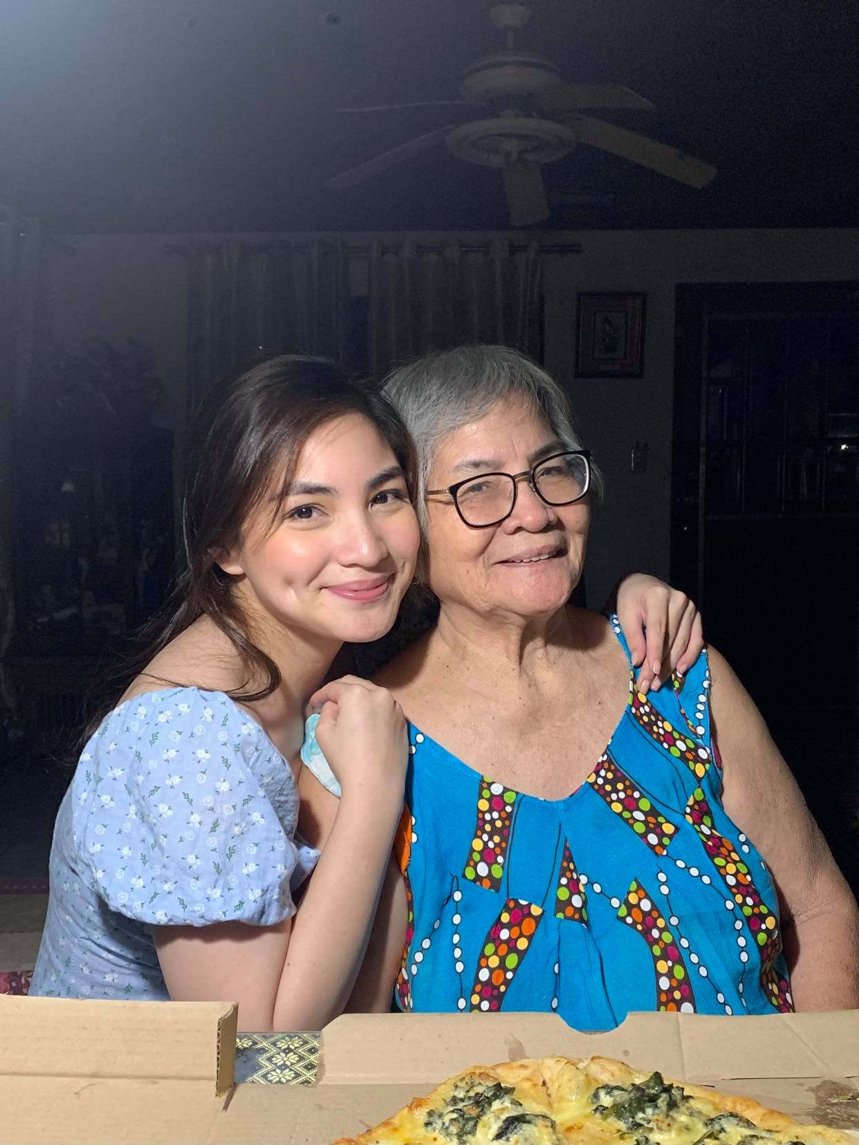 Family photo of a Pinay and her lola - Roselle