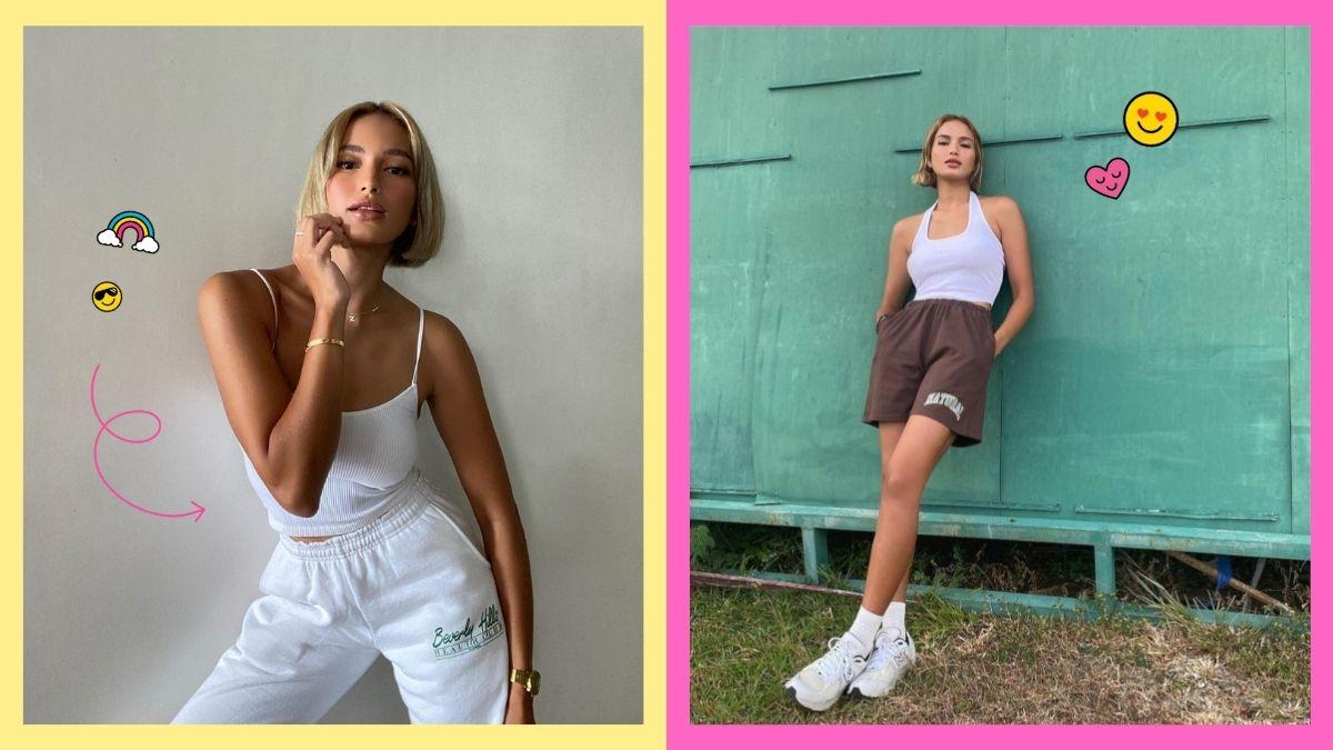 Athleisure outfits of Sarah Lahbati
