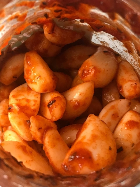 tiktok spicy pickled garlic snack