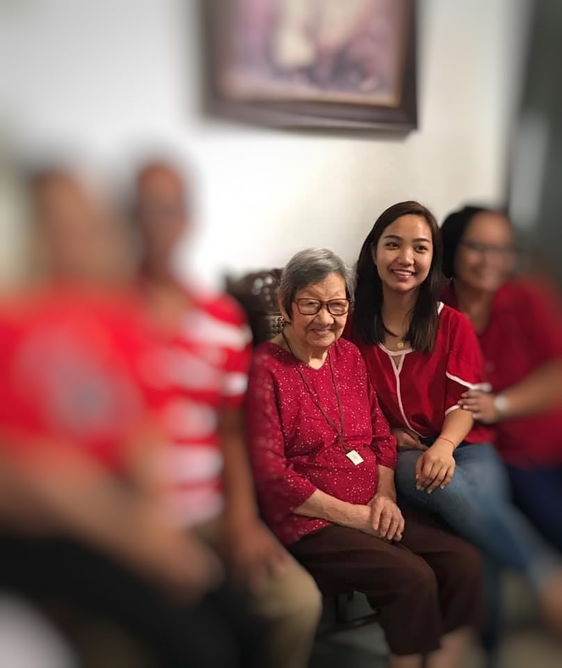 Family photo of a Pinay and her lola - Chelle