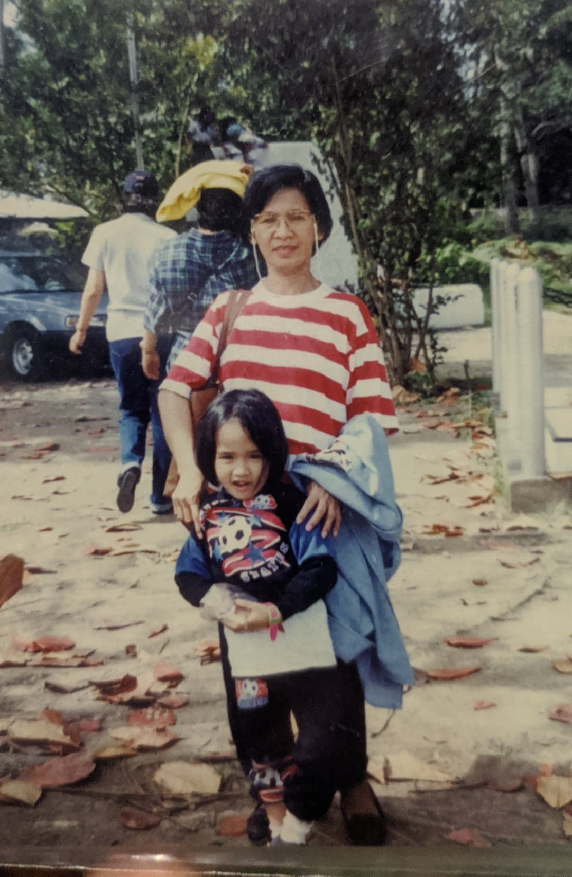 Family photo of a Pinay and her lola - Eli