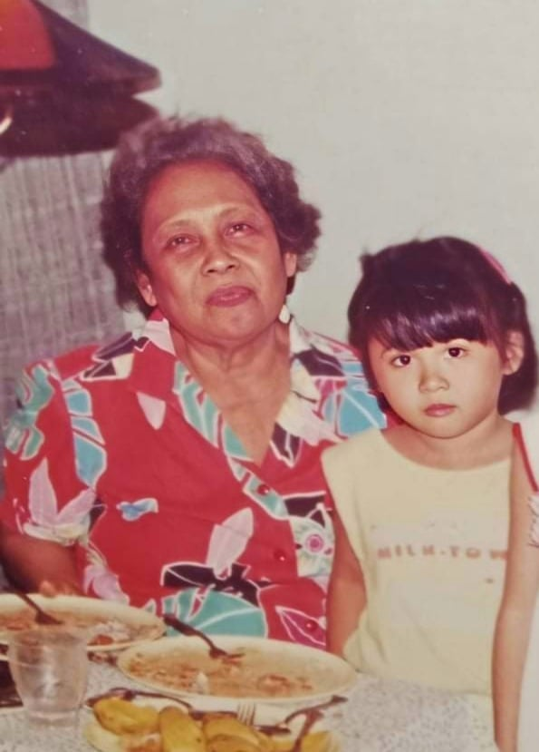 Family photo of a Pinay and her lola - Jen