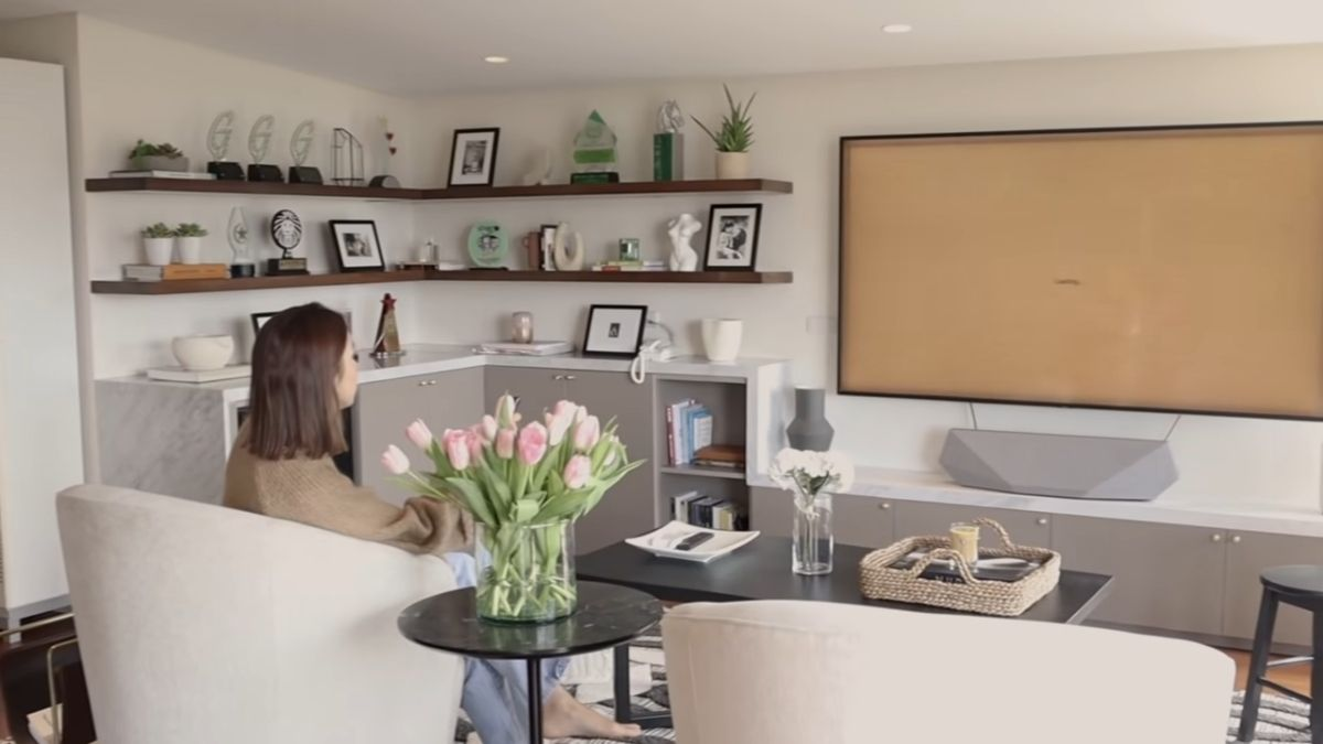 Julia Barretto home office tour - shelves and chairs