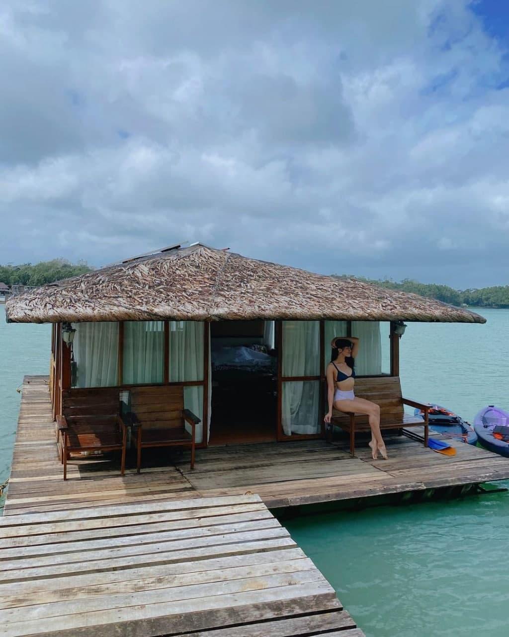 Jane Oineza hanging out at a resort in Lake Caliraya