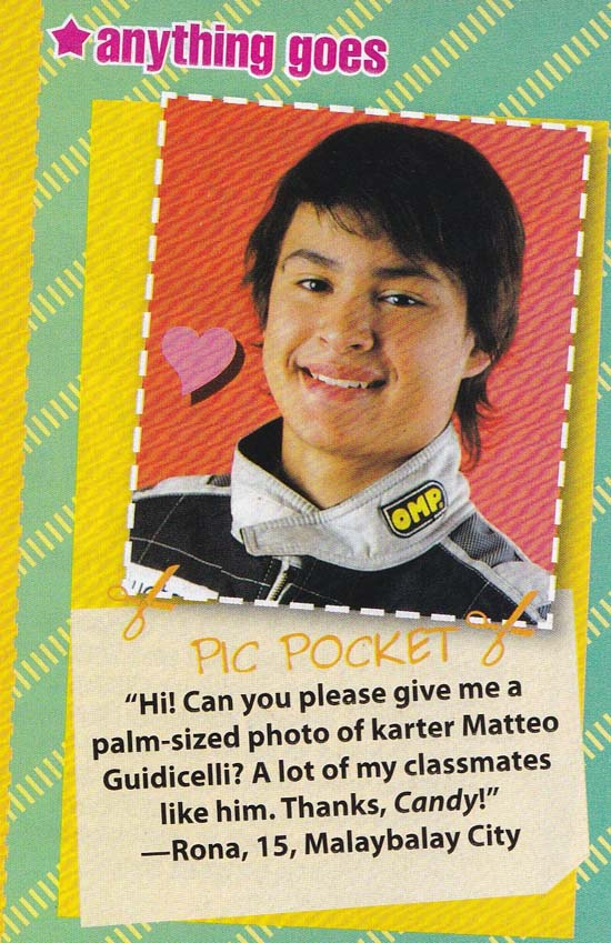 Matteo Guidicelli as featured in a Candy Mag issue