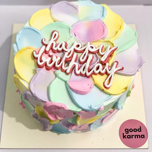 Where to buy rainbow cakes: Good Karma
