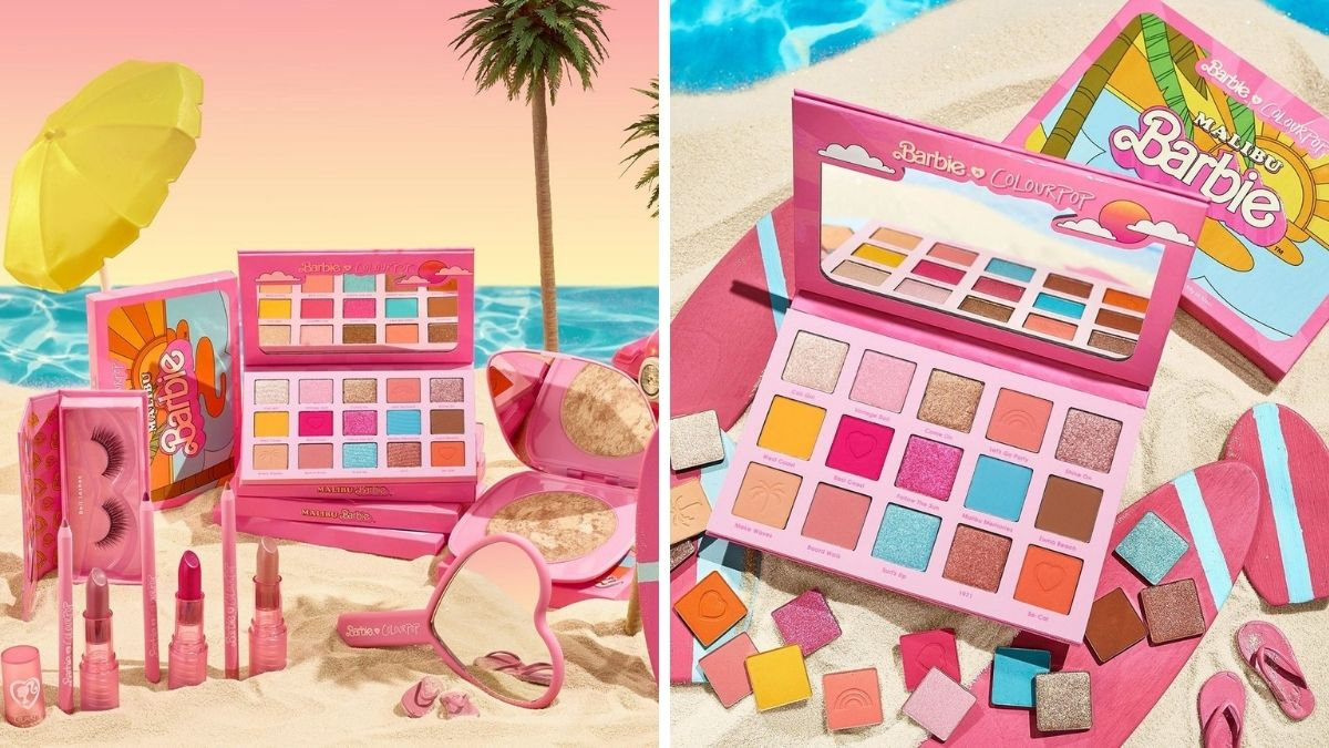 malibu barbie x colourpop makeup collection