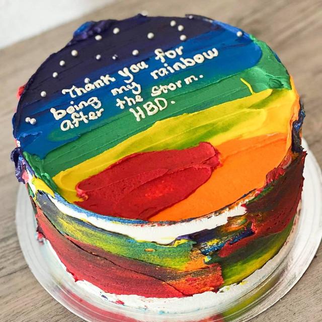 Where to buy rainbow cakes: Wadough's