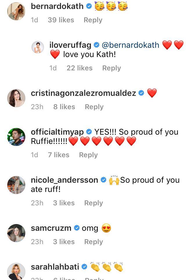 Kathryn Bernardo comments emojis of support to Ruffa