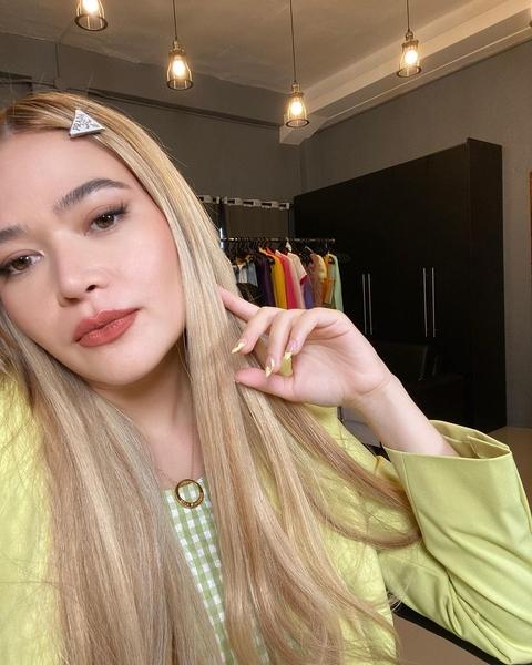 Bella Padilla with blonde hair