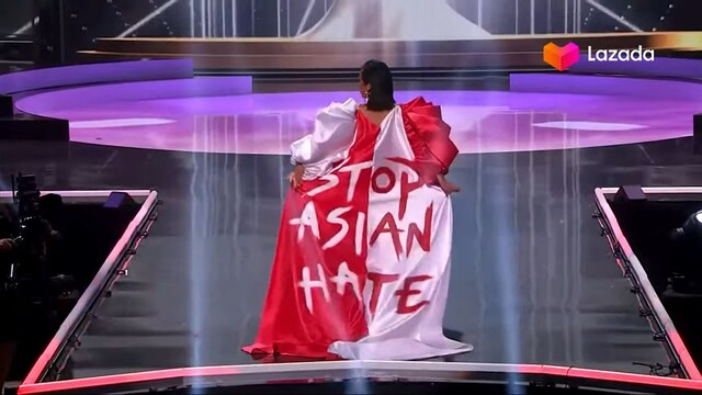 miss universe costume singapore stop asian hate