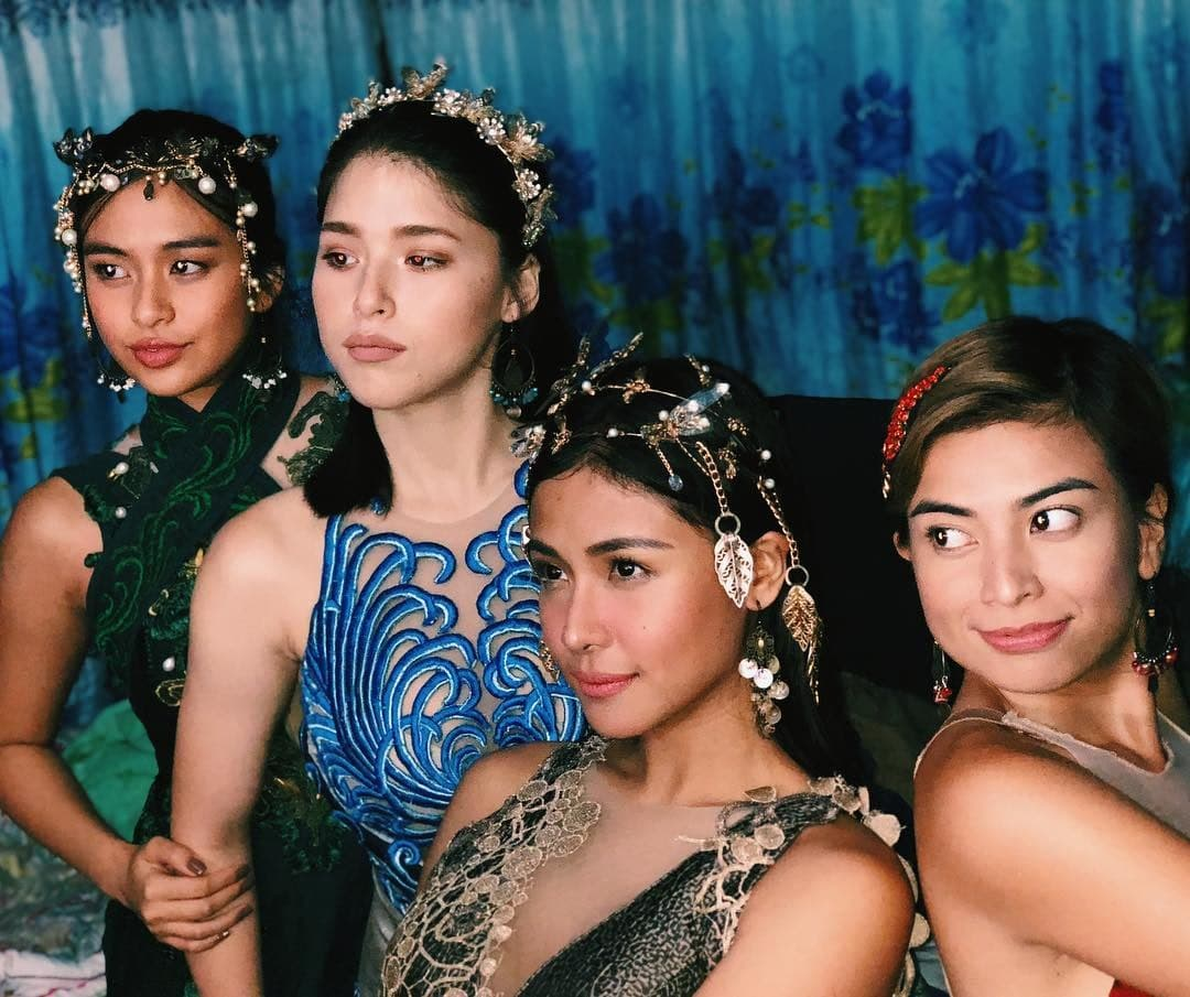 Sanya Lopez with other cast of Encantadia, Kylie Padilla, Gabbi Garcia and Glaiza de Castro
