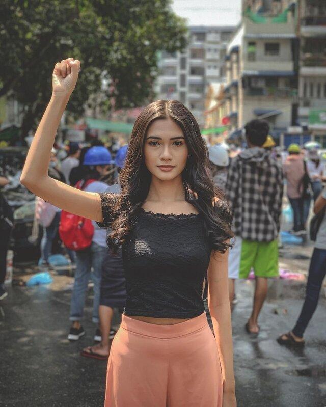 miss universe myanmar 2020 activist