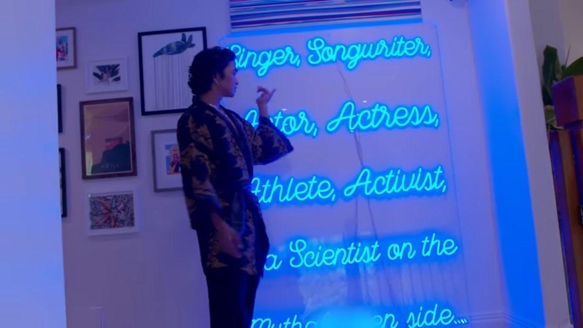 Bretman Rock's neon lights home decor