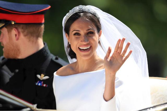no makeup look for brides, wedding: Meghan Markle
