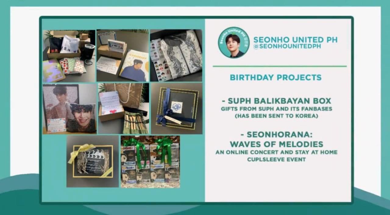 Seonho United PH's birthday projects