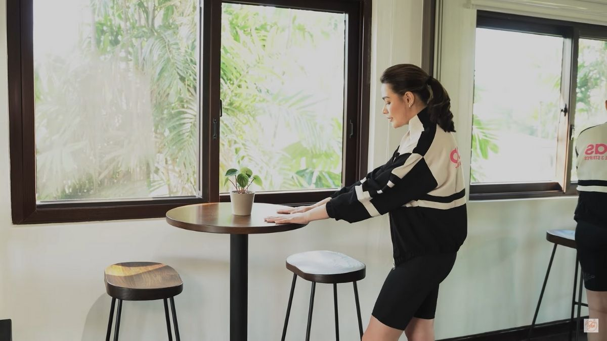Bea Alonzo home gym: coffee spot