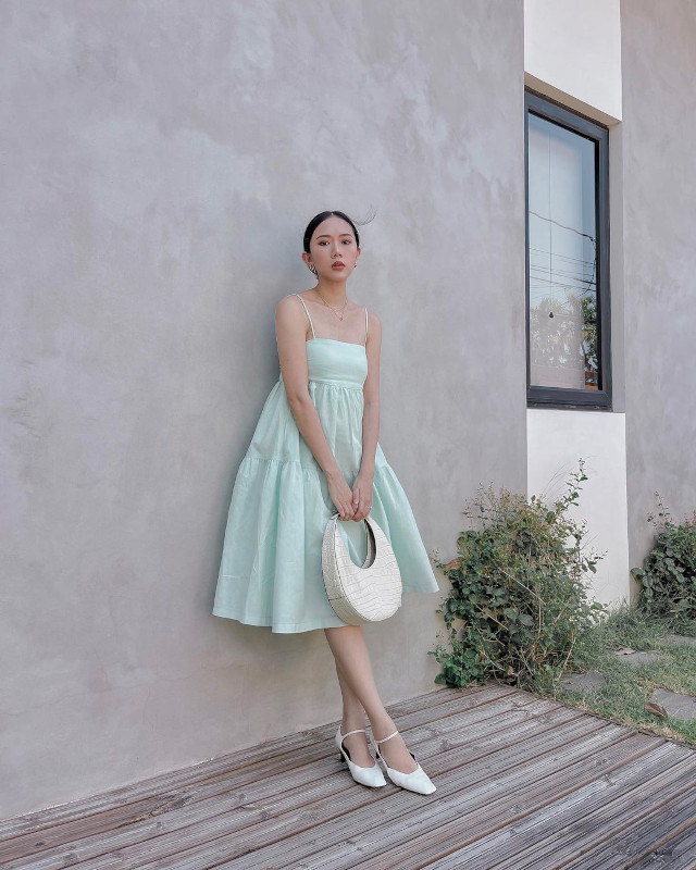 Green outfit: Camille Co