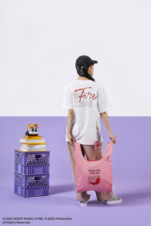 BTS x McDonald's Merch Collection Shirt and eco bag