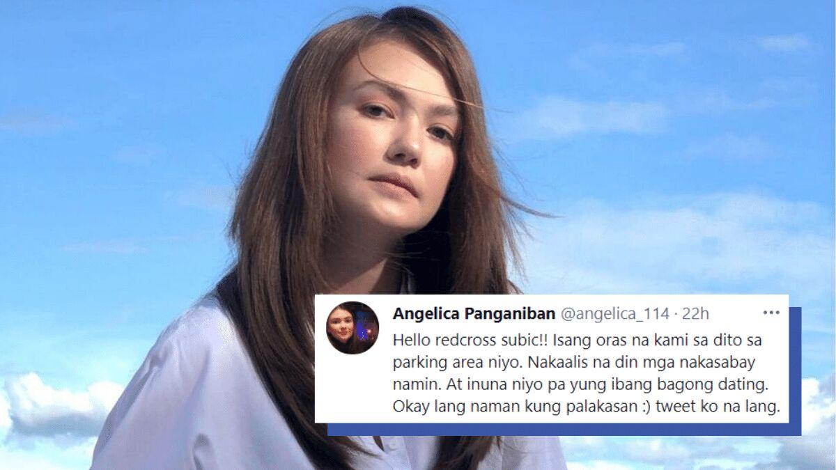 angelica panganiban twitter rant red cross