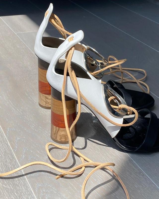 Mari Jasmine block heels sandals shoefie