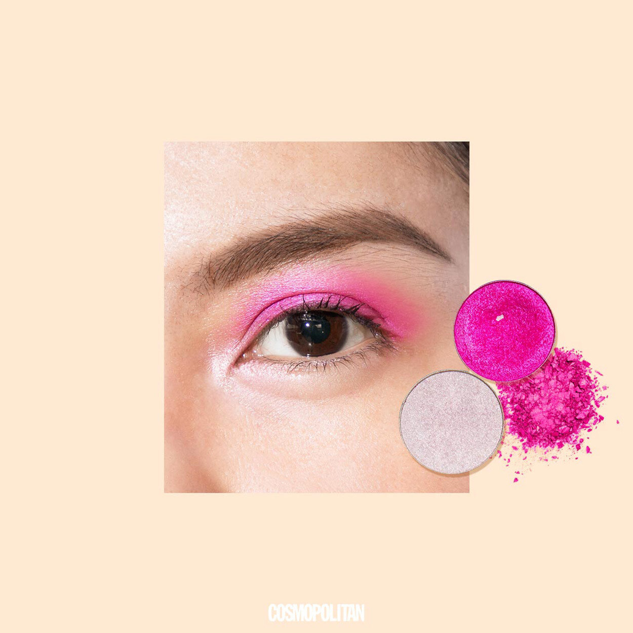 pink eyeshadow look