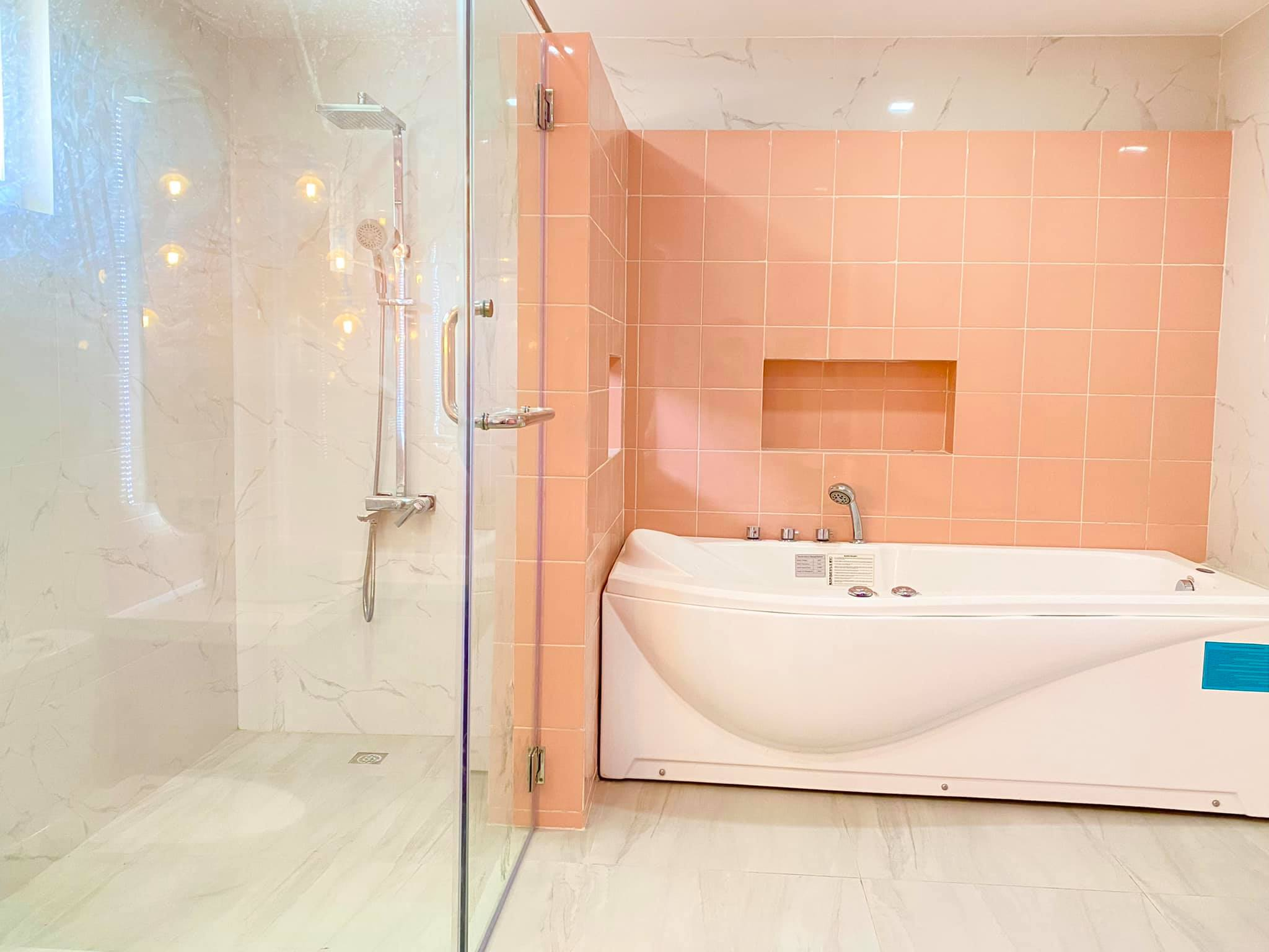 space makeover - shower and bath