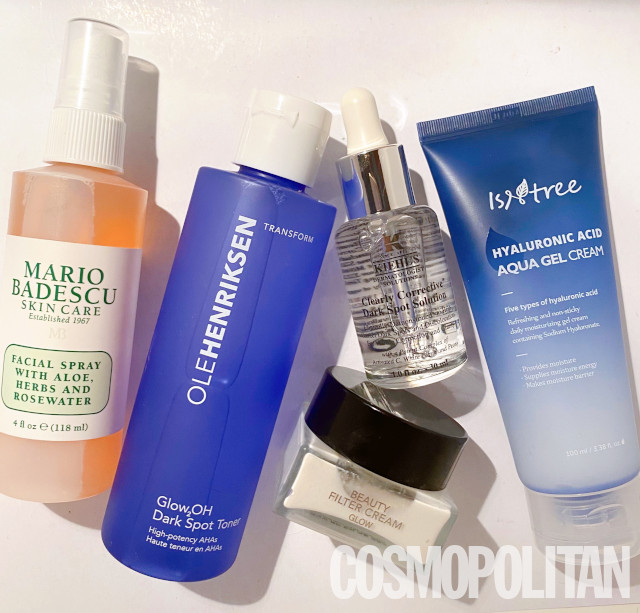 How to get dewy skin: Skincare products