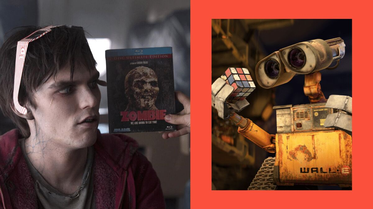warm bodies, wall E: end of the world movies