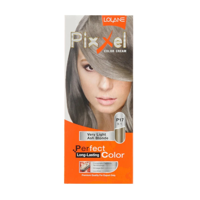 Blonde hair color at home: Loma Pixxel Color Cream in Very Light Ash Blonde