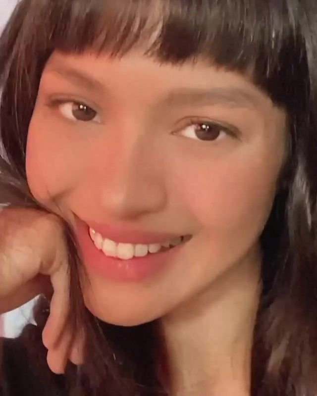 Jane Oineza with micro bangs hairstyle