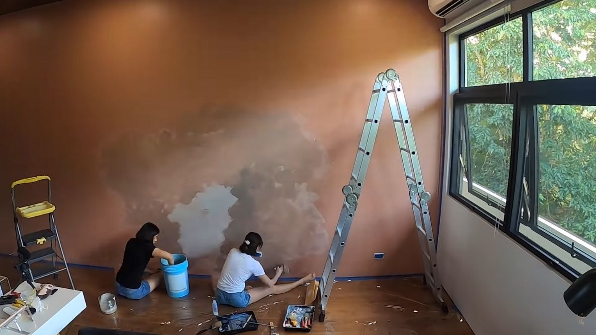 Kryz Uy home office makeover 2021: painting walls