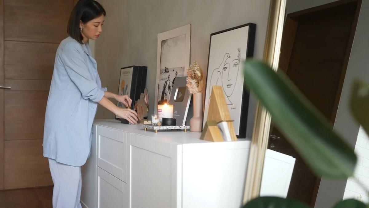 Kryz Uy home office makeover 2021: new white cabinet
