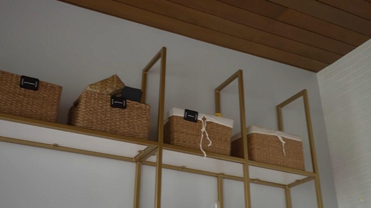 Kryz Uy home office makeover 2021: woven baskets