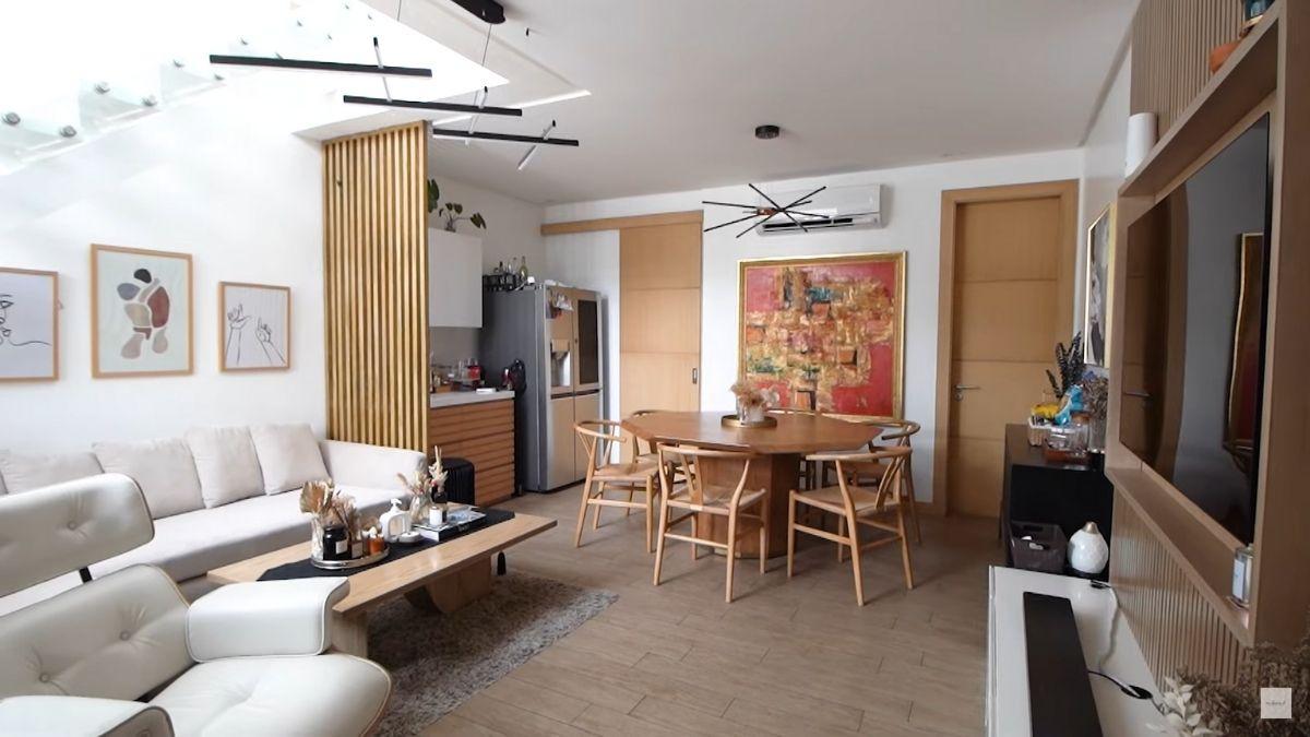 Dani Barretto, Xavi Panlilio living room and dining room before transformation