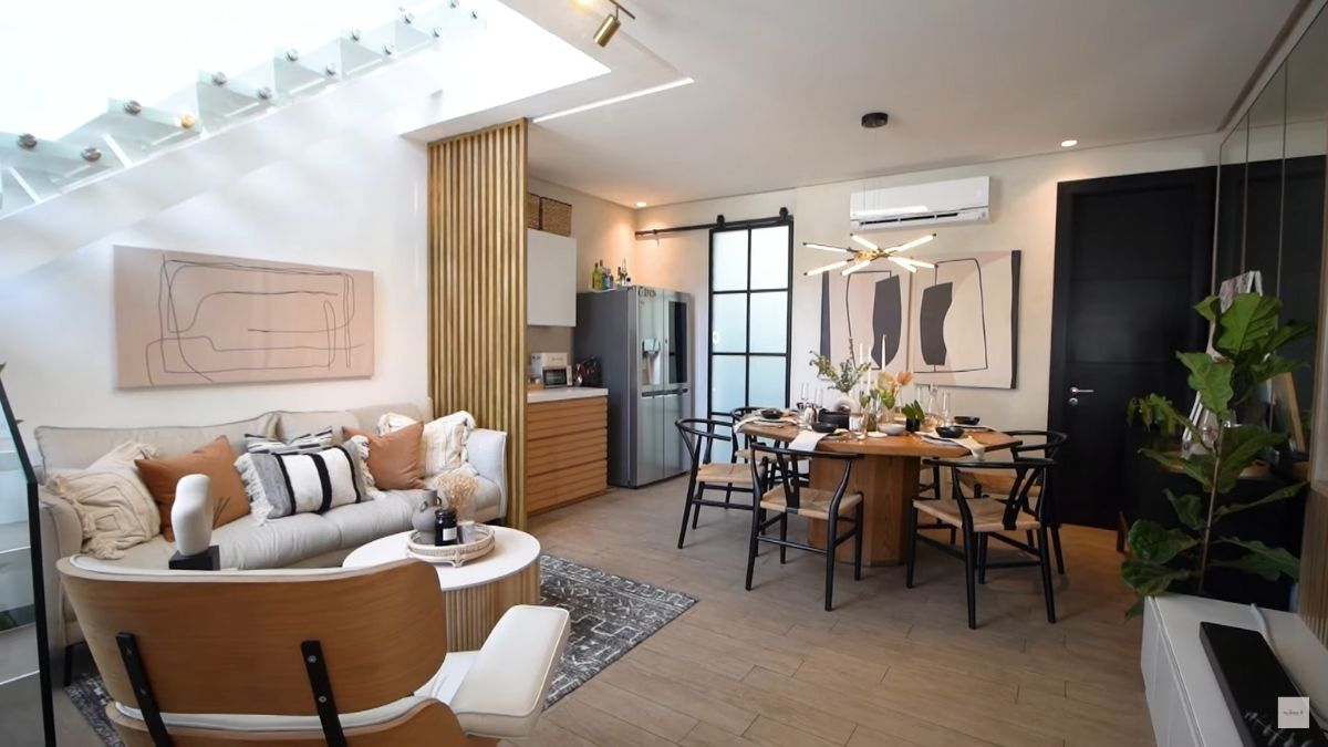 Dani Barretto, Xavi Panlilio living room and dining room after transformation