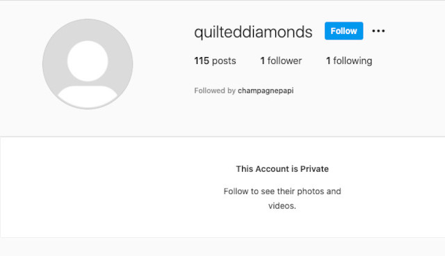 Drake secret, fake Instagram account