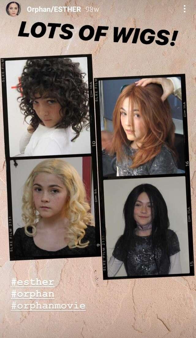 orphan movie wig