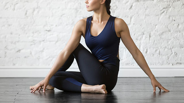 yoga or gentle weight lifting are good ways to exercise on your period.