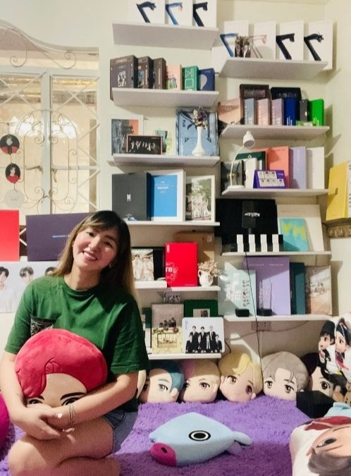 pinay with BTS merch