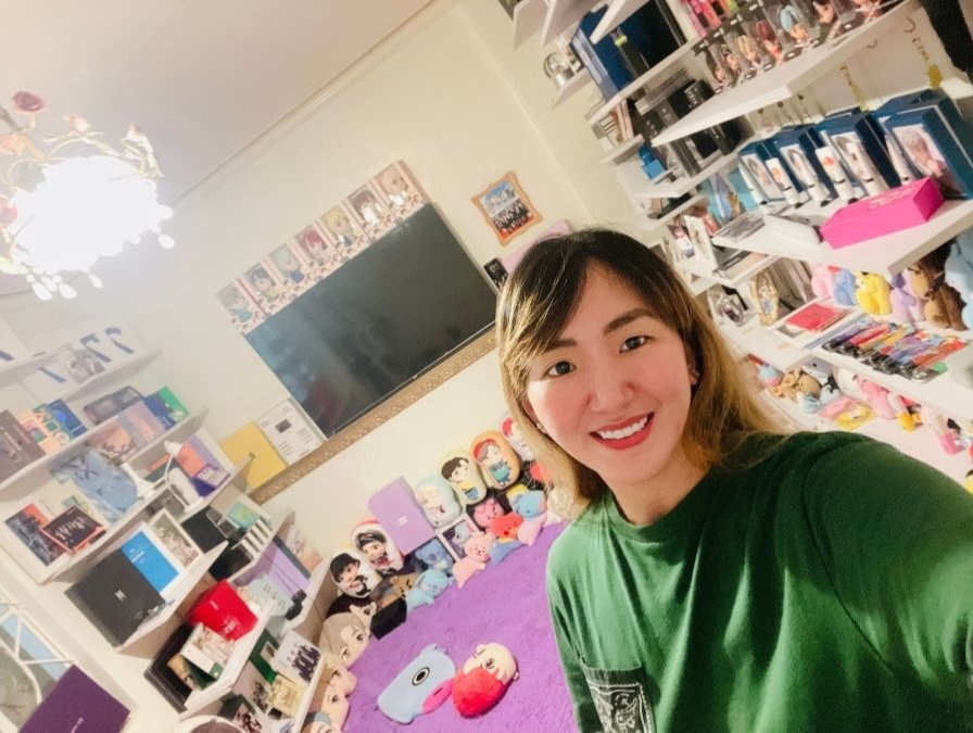 Pinay in her BTS room