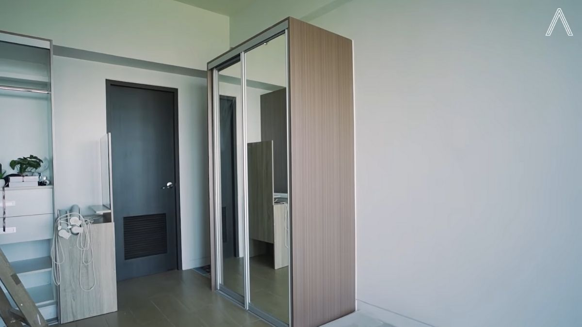 Rhian Ramos bedroom makeover: before shot of the cabinet