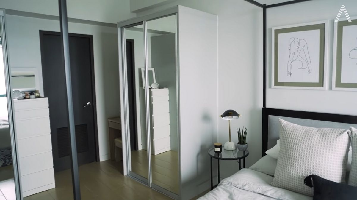 Rhian Ramos bedroom makeover: after shot of the cabinet