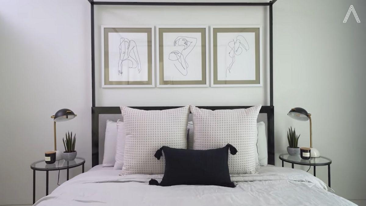 Rhian Ramos bedroom makeover: new sheets, pillows, artworks
