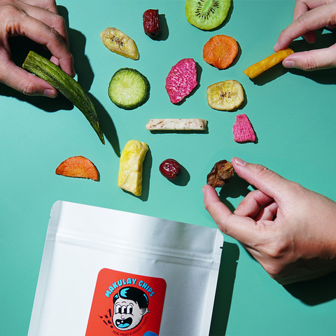 Makulay Chips' fruit and veggie crisps: 12 different kinds