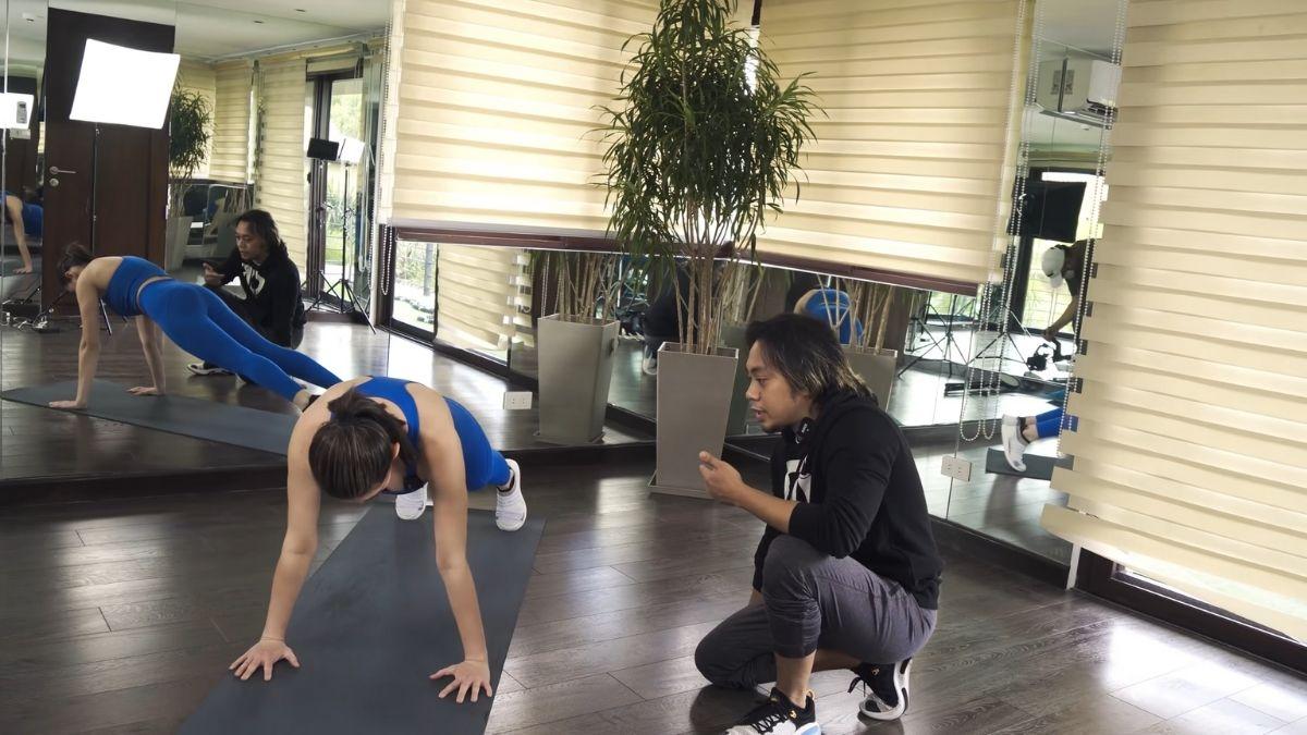 Bea Alonzo fitness journey 2021: pushups